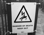 Warning sign stock by Theshelfs