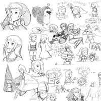 Skyward Sword Sketches by ev1lmunchk1n