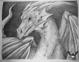 Graphite Dragon 1 by Magpie-Arts
