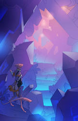 Crystal Cavern Commission by turnipBerry