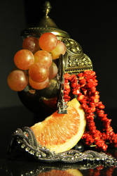 Still life with fruit and a charm by M-a-s-h-a