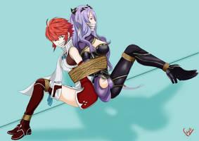 Camilla and Hinoka in Trouble by VakaOsciosa