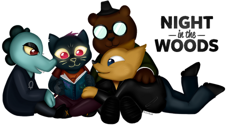Night in the Woods -- Best Friends by xNeonKnight