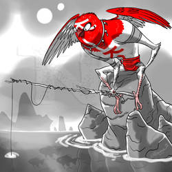 Sketchamathingie goes fishing by tnperkins