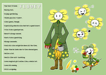 [COMMISSION] - Flowey reference sheet by Niutellat