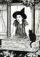 Catnip Witch by DjamilaKnopf