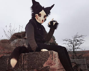 Cadaver Skulldog Fursuit by wingedwolf94
