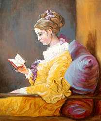COPY Young Girl Reading by KyrMaur