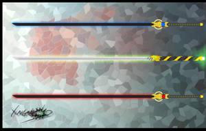 Swords three by FluffyXai