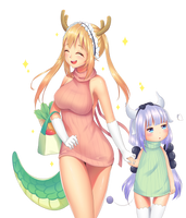 Fan art Dragon maid by Tamask5k