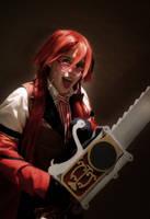 Kuroshitsuji Grell Cosplay: Stranger in an alley by BloodlustDetox