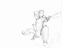 Sketch feature # 2 - Straight Sword by shinsengumi77