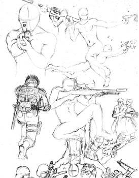 Gun Poses 1 by shinsengumi77