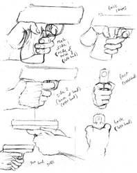 How to draw a handgun grip by shinsengumi77
