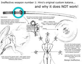 Ineffective weapons 1 - Hiro's original katana by shinsengumi77