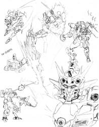 Mech sketchdump by shinsengumi77