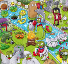 ACEO Cards - Plants VS Zombies by Vani-Fox