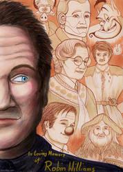 In Loving Memory Of Robin Williams by Vani-Fox