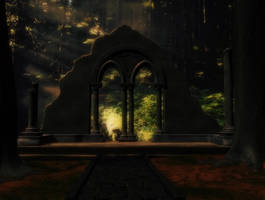 Forest Arches Stock by Moonchilde-Stock