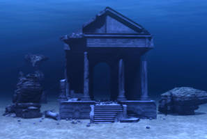 Meagara Temple Blue Stock by Moonchilde-Stock