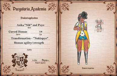 Purgatoria Academia App: Nik and Poyo by CreativeBomb