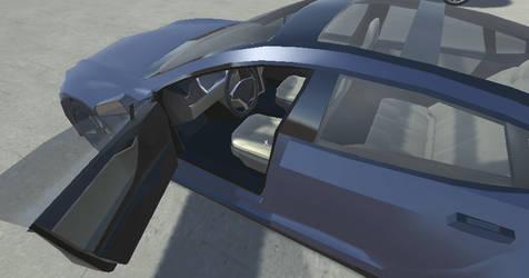 Low poly Tesla Model S by eriknordeus
