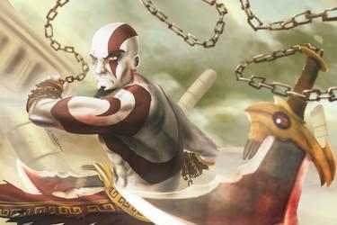 Kratos God of war by Z3ros