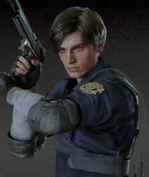 Leon Kennedy-RE 2 Remake! by black-cat010