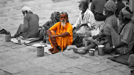 Varanasi Life Sadhu by AndrewToPhotography