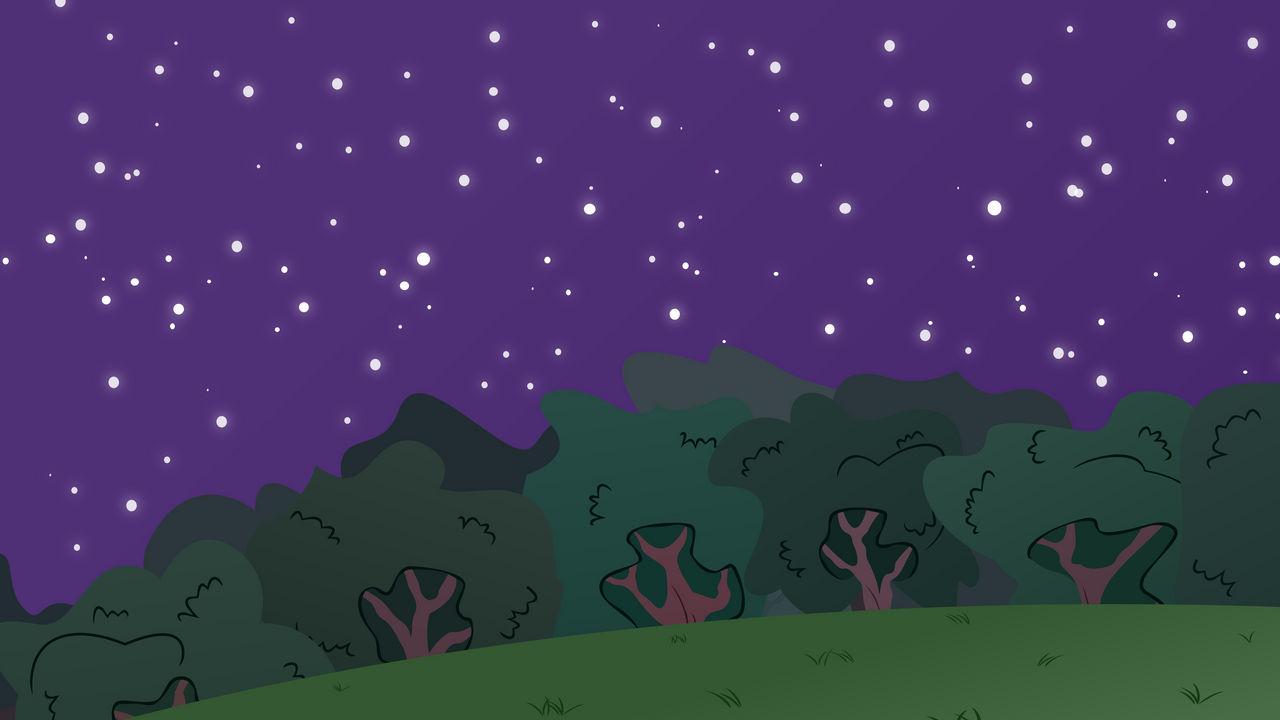 MLP BG-Forest At Night #2 by EROCKERTORRES