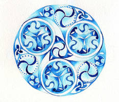Blue Triskelion by Iridium-and-Osmium
