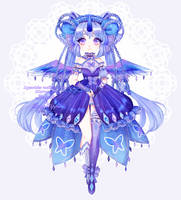 [CLOSED] Fluttercorn collab adopt- Karner Blue by shelselle