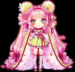 Fairy Vials: Sakura, Dango + Green Tea by shelselle