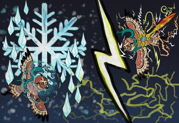 Lyze and Ifghar's Storm of Lightning and Ice by x-EBee-x