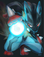 Mega Lucario by DaTenshiKiss