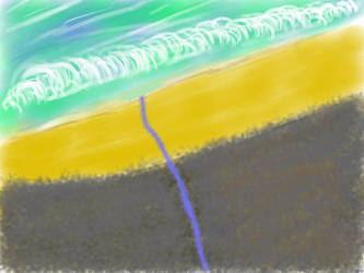 Beach - messing with tablet by PROGRAM-IX