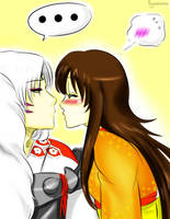 Gimme Kiss Sesshy by Pamianime