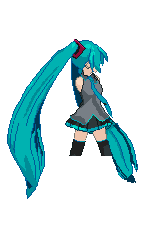 Pixel Art Miku Animation Base by Crystall00707