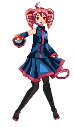 Pokemon Trainer Kasane Pixel Art by Crystall00707