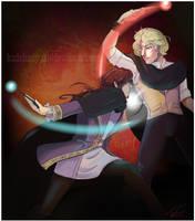 Grindelwald and Dumbledore by KudohMiyuki