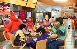Big Hero 6 Shawarma by DominicDrawsArt