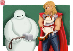 Baymax is...worthy? by DominicDrawsArt