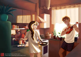 How D'you Like Your Eggs In The Morning? by DominicDrawsArt
