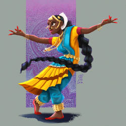 Indian Dancer by DominicDrawsArt