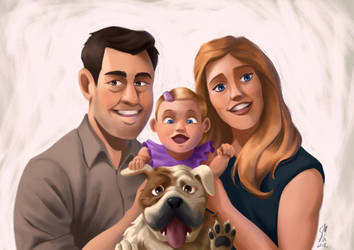 Mother's Day Family Portraits 2018 by DominicDrawsArt