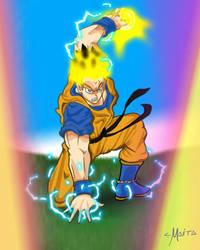 Mirai-Future Gohan Turning into Super Saiyan ! by LM-Ilustraciones