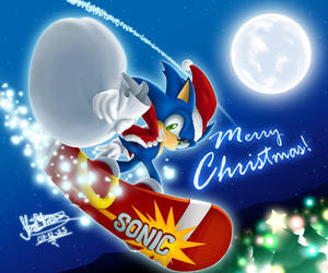 Neon Blue Christmas by sonicolas