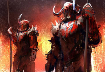 Hell Defenders by conorburkeart