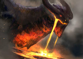 Magma Dragon 3 by conorburkeart
