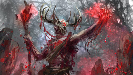 Blood Shaman by conorburkeart
